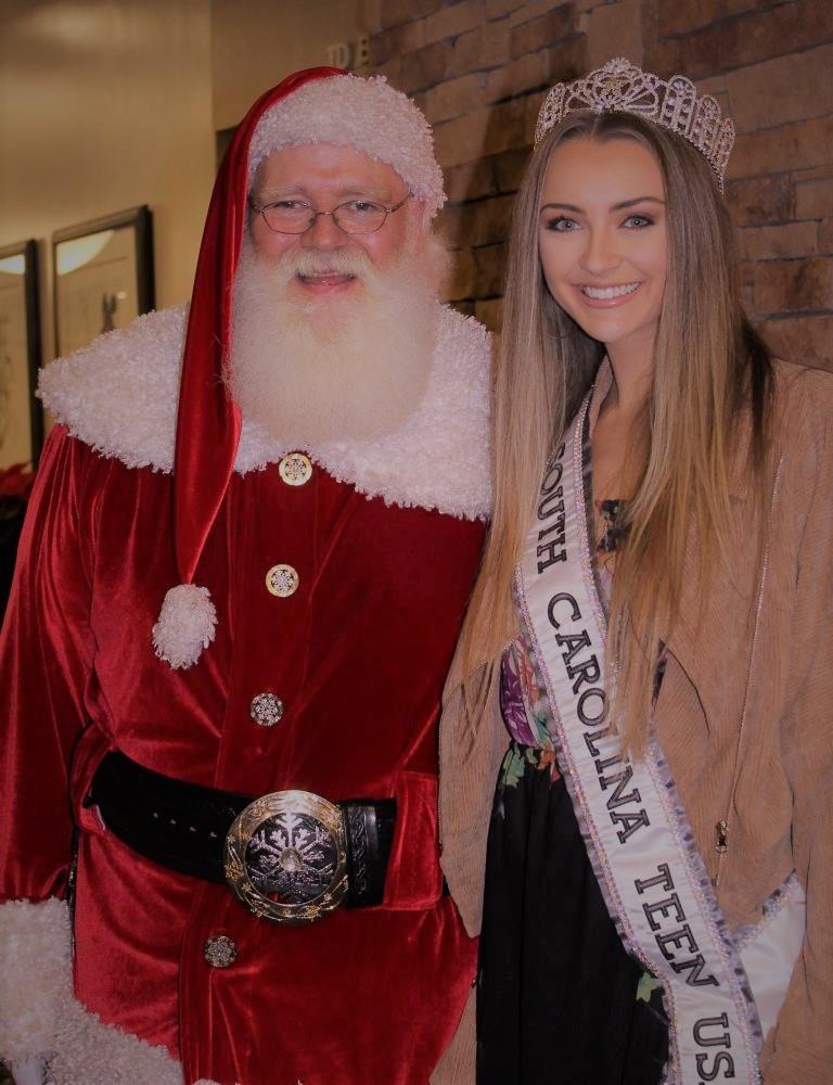 Santa and Miss Teen USA SC