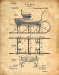 sleigh patent blueprint 1893