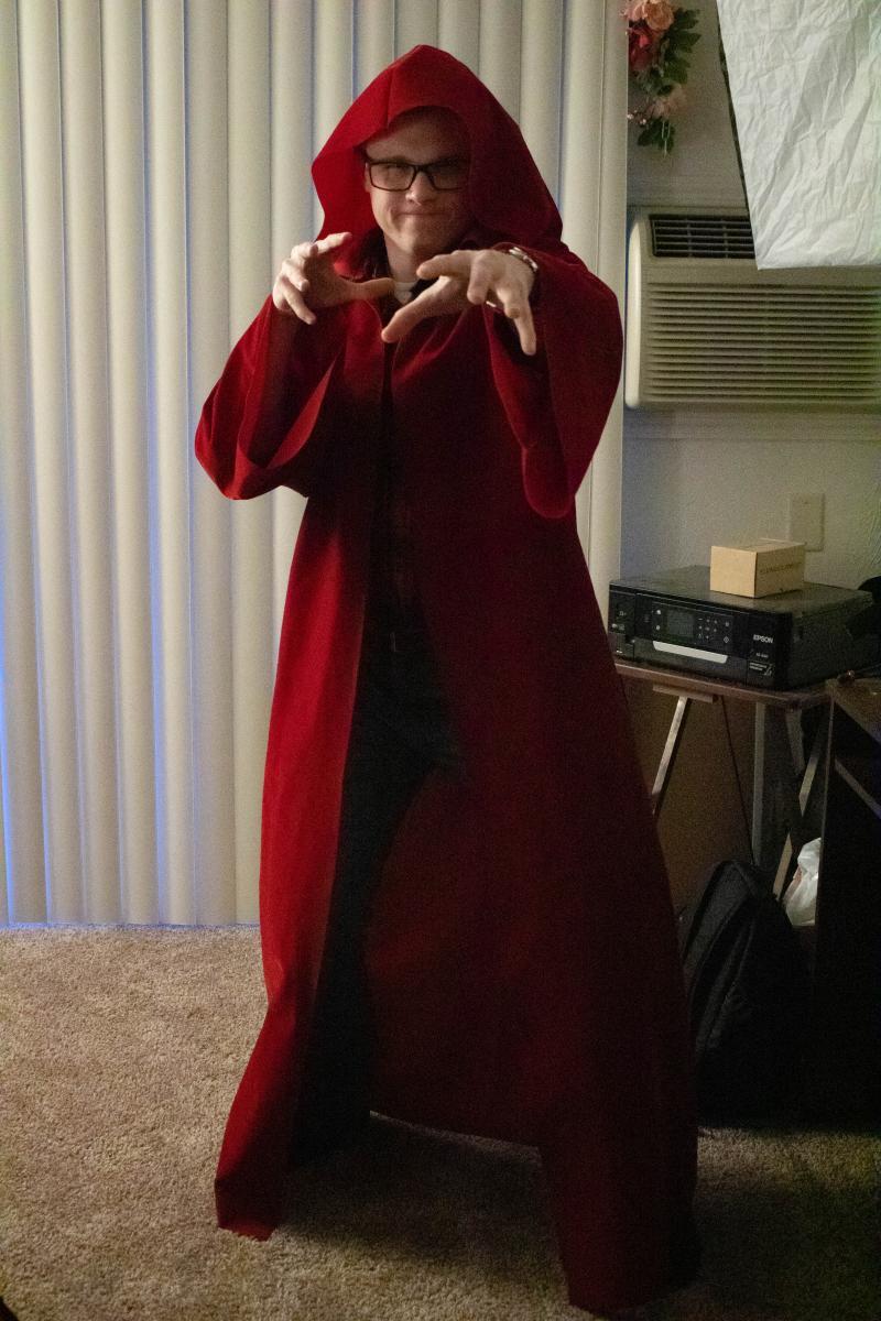 Hood on Robe