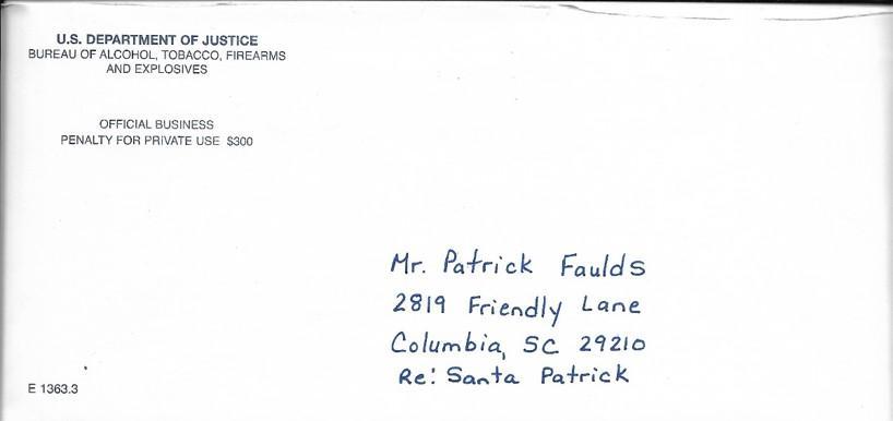 ATF Letter to Santa
