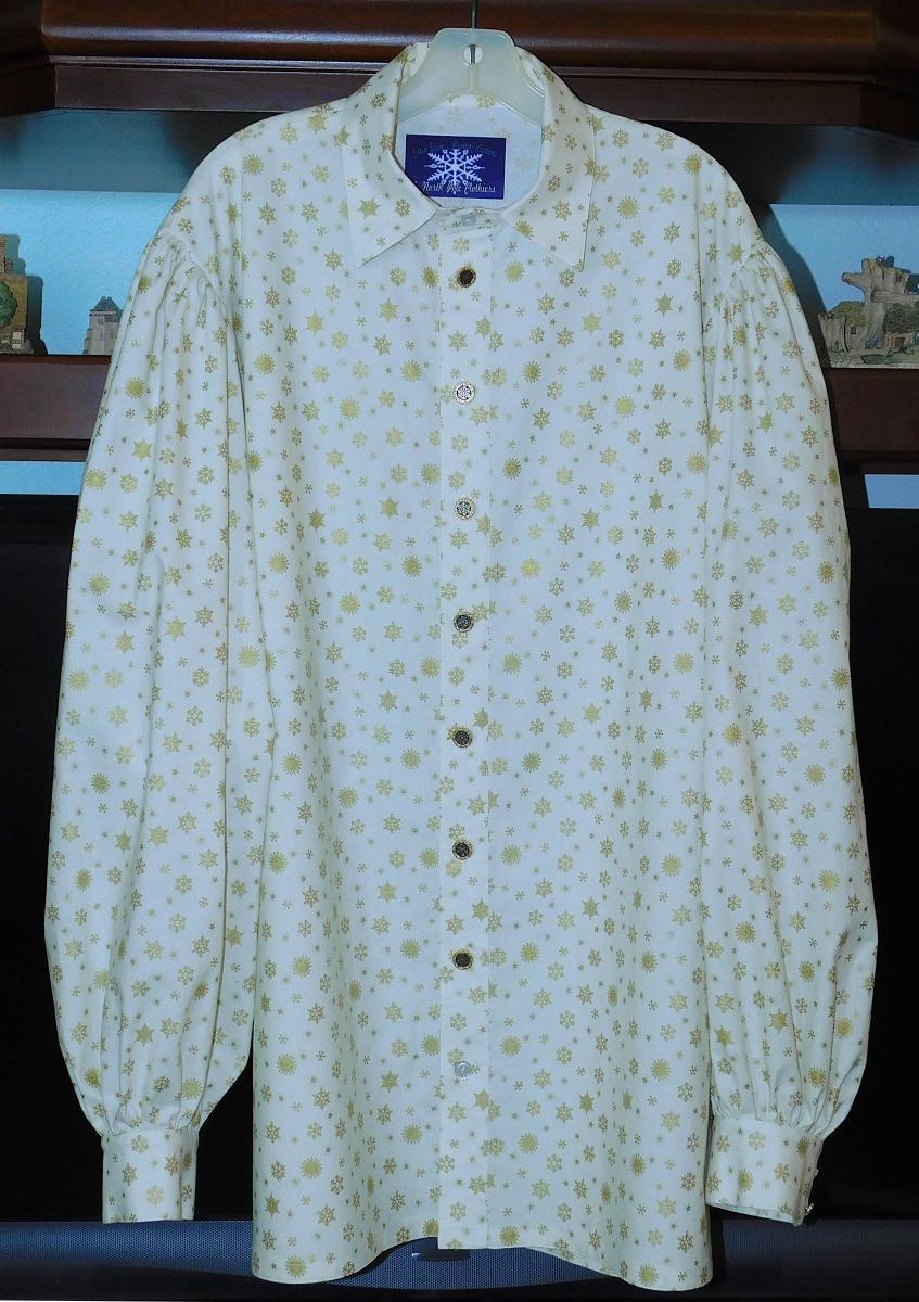 Stephen A. L:S snowflk shirt