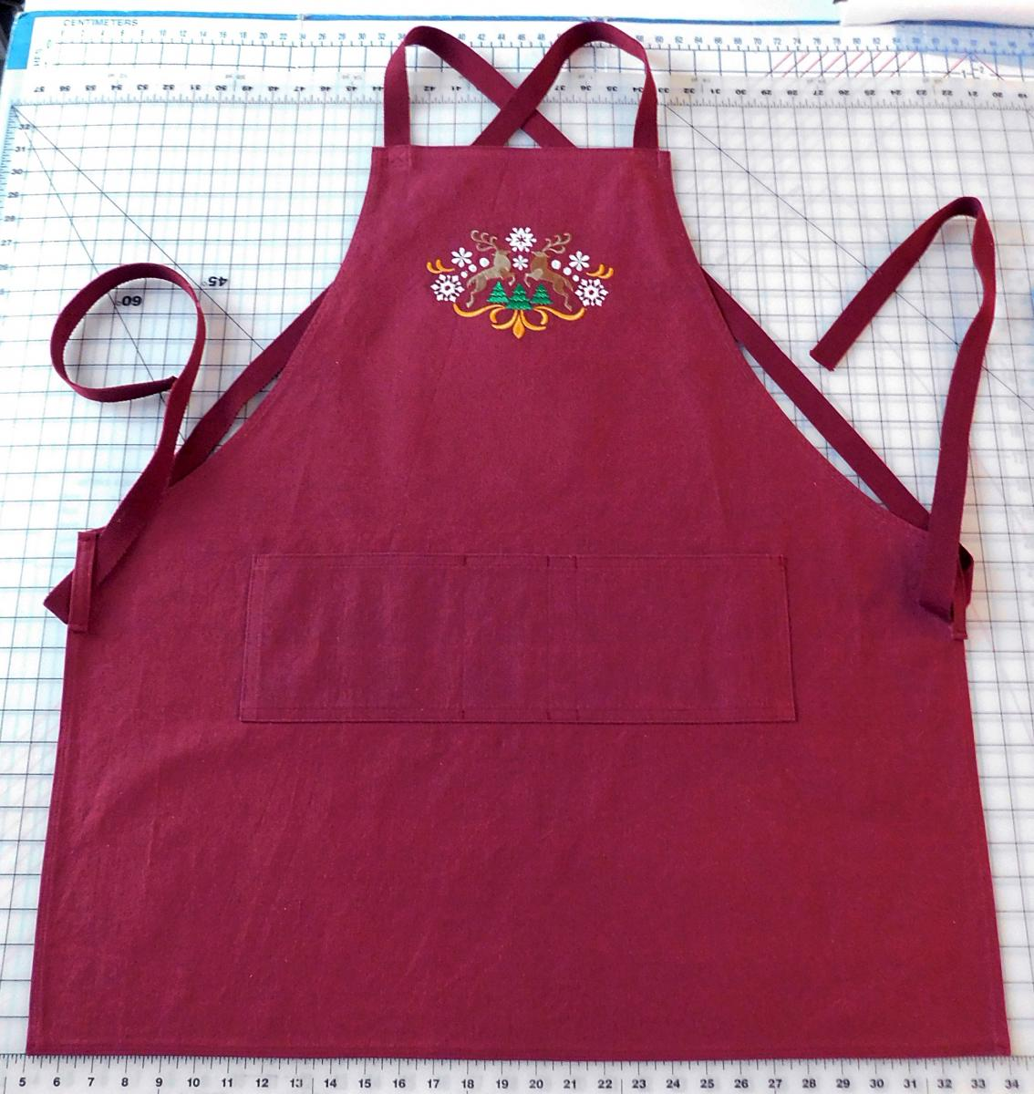 Cross back style apron